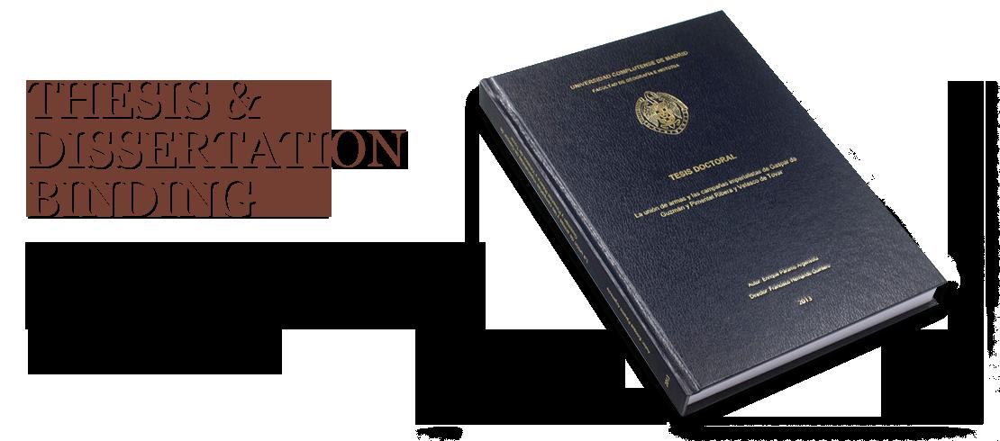 Dissertation binding service