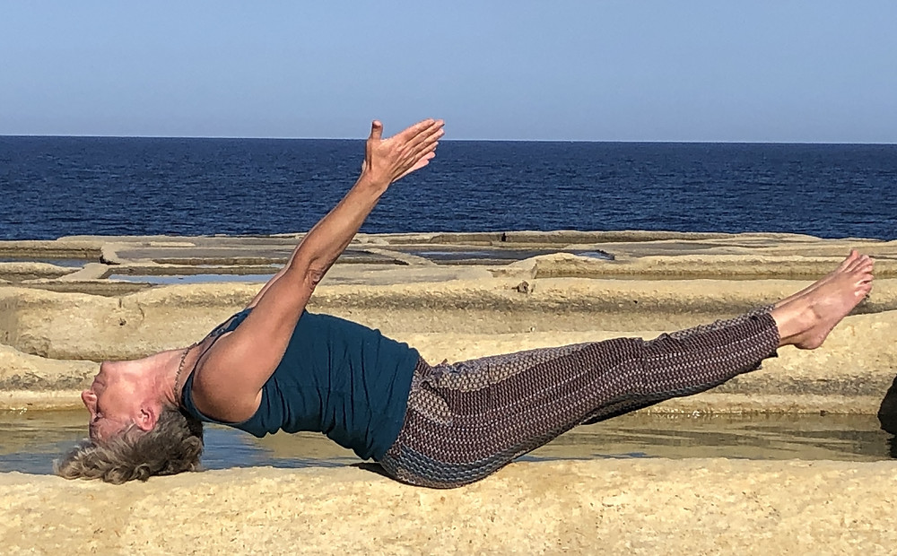 - Matsyasana / Fish Pose - opening the thyroid and thymus glands