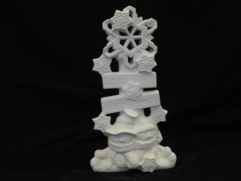Snowflake stack w/cuddle snowmen