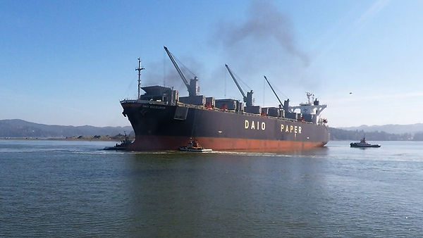 TUGBOATS TURNING SHIP