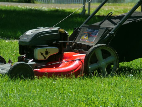 Mowing the Lawn . .