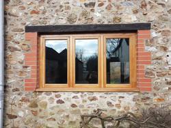 Oak mullioned window