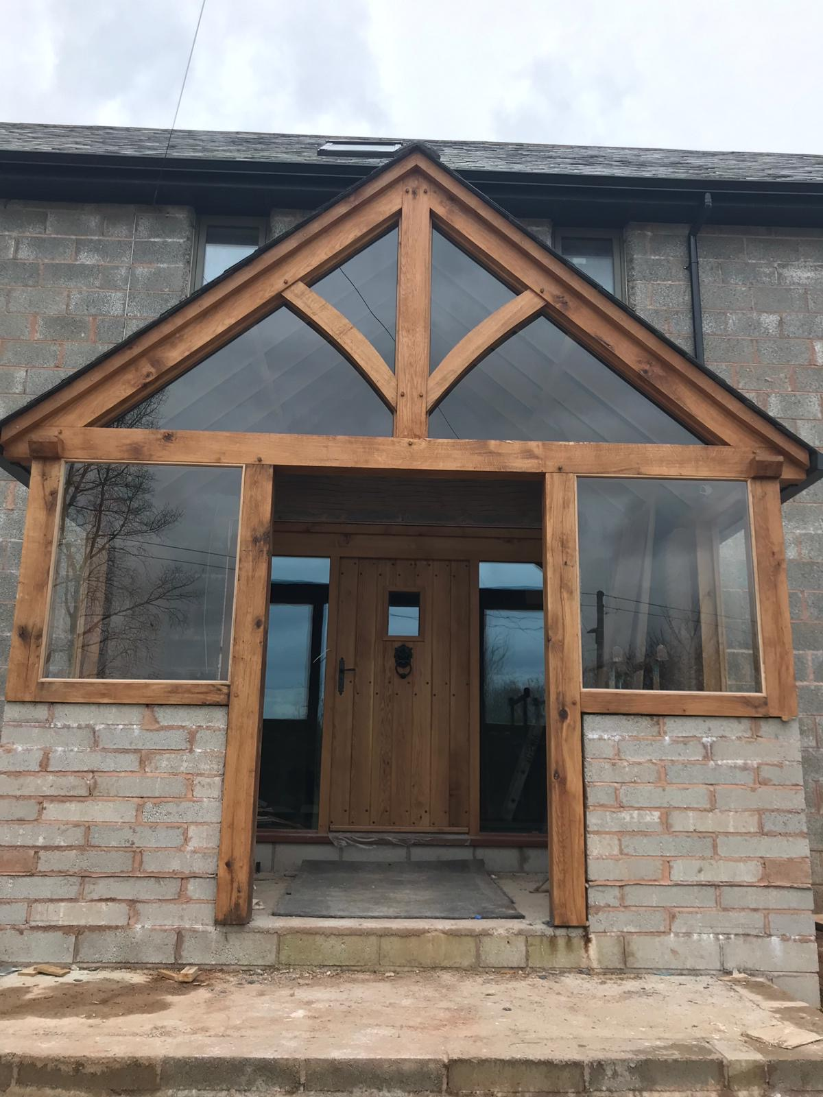 oak porch and door