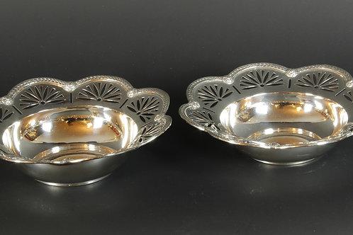 1 Paar Silberschalen