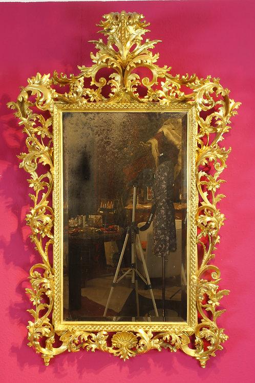 Spiegel, Holz geschnitzt u blattvergoldet