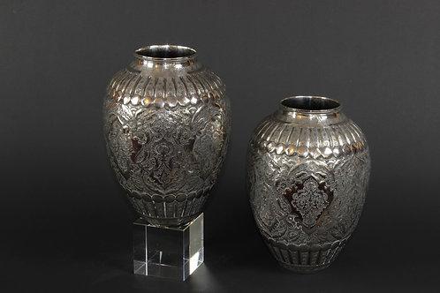 1 Paar Silbervasen, Persien