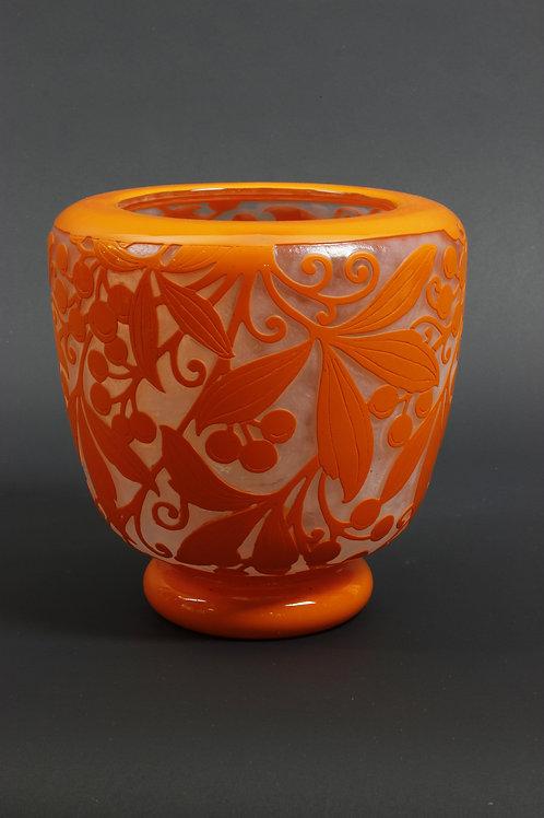 "Art-Deco Vase, ""Vigne Vierge, Daum, Nancy"