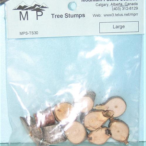 Tree Stumps, Large, model railroad, dioramas