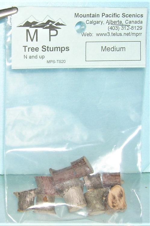 Tree Stumps, Medium, Model Railroad, Dioramas