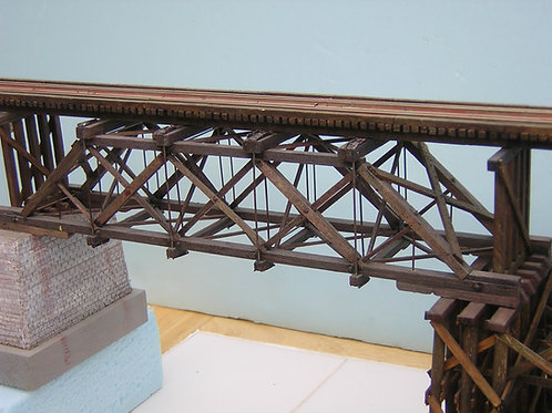 HO Model 1125 Wood Truss Bridge Kit