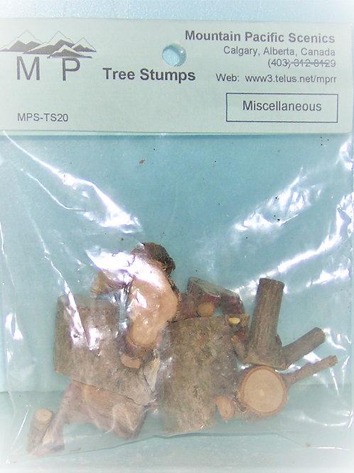 Tree Stumps, Miscellaneous, Model Railroad, dioramas