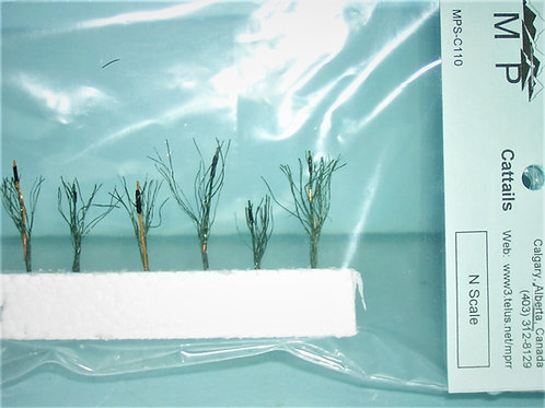 """Cattails, N, 1/16"""", (1:200mm) scales, model railroad, dioramas, architectural"""