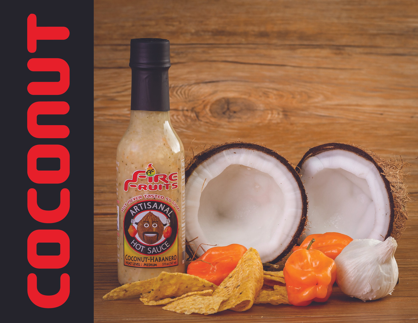 Originated in the Indonesia region, the coconut is consumed in the liquid as well as the solid form. The pulp of the fruit is crunchy, sweet and juicy. Thanks to its soft, sweet and exotic flavor, it is ideal for desserts. We believe is ideal to be mixed with habaneros to make one of the most unique and delicious hot sauce in the market. After you try our Coconut - Habanero Artisanal Hot Sauce you will feel your mouth dancing the Macarena!!!