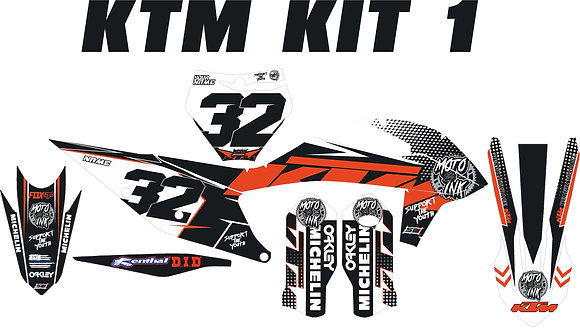 KTM Custom Bike Graphic Kits Standard