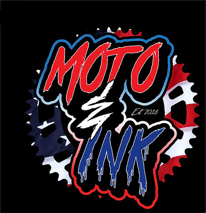 "Moto&Ink Original Sprocket Logo Decal ""Custom Print"""