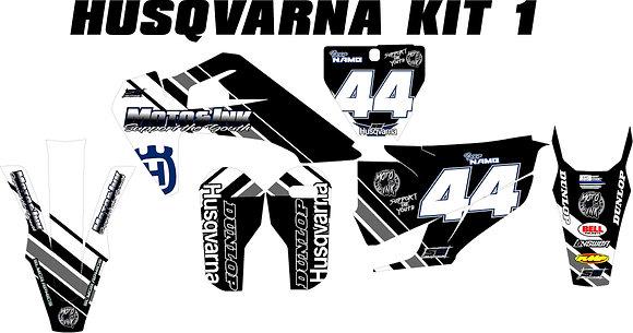 Husqvarna Custom Bike Graphic Kits Standard-Email: motoink214.com to custom orde
