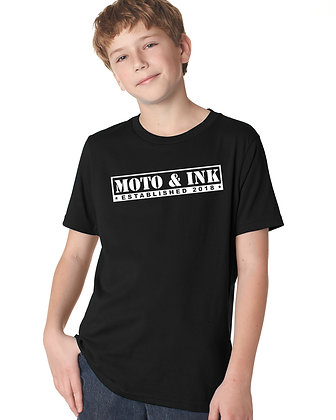 Youth Moto & Ink Stamp Logo Short Sleeve
