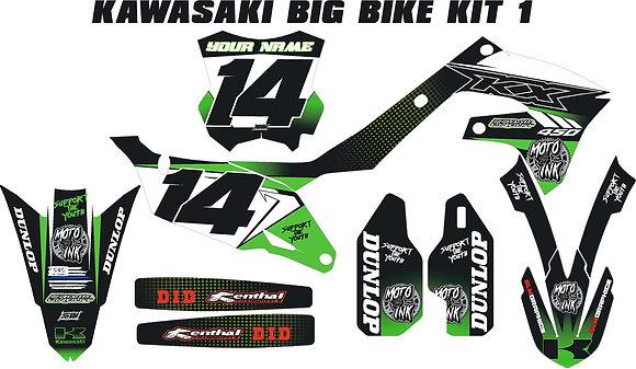 Kawasaki Custom Bike Graphic Kits Standard-Email: motoink214.com to custom order