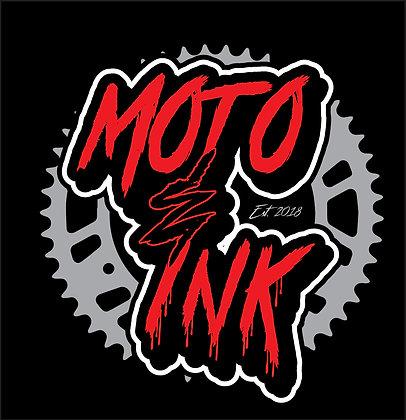 """Moto&Ink Original Sprocket Logo Decal """"Solids/Fades"""""""