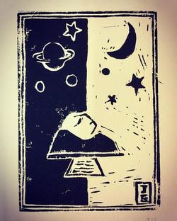Illustration d'un poème de Max Jacob