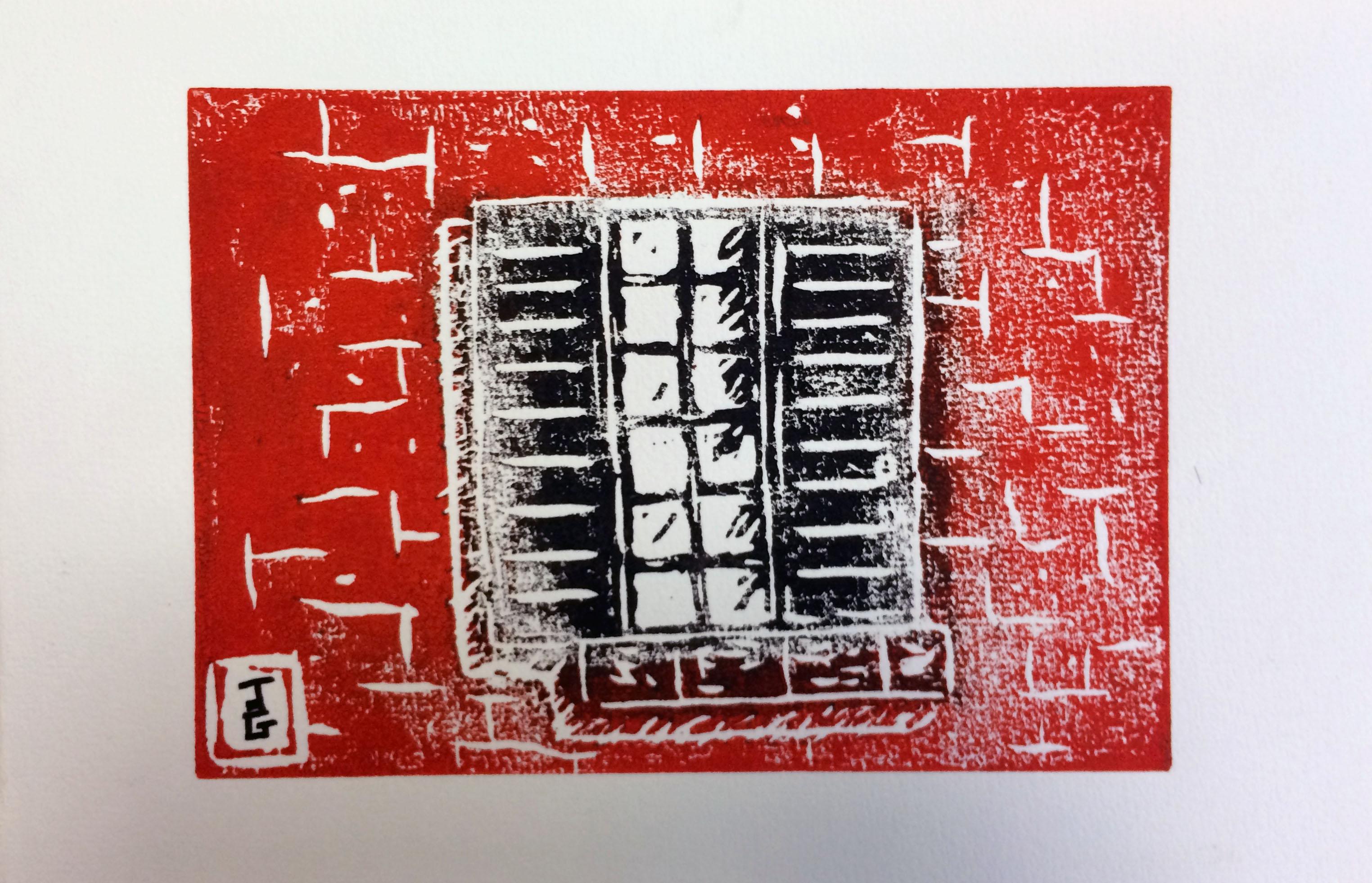 Persiennes - En rouge et noir