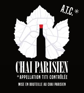 Etiquette de vin d'après le logo existant du bar)