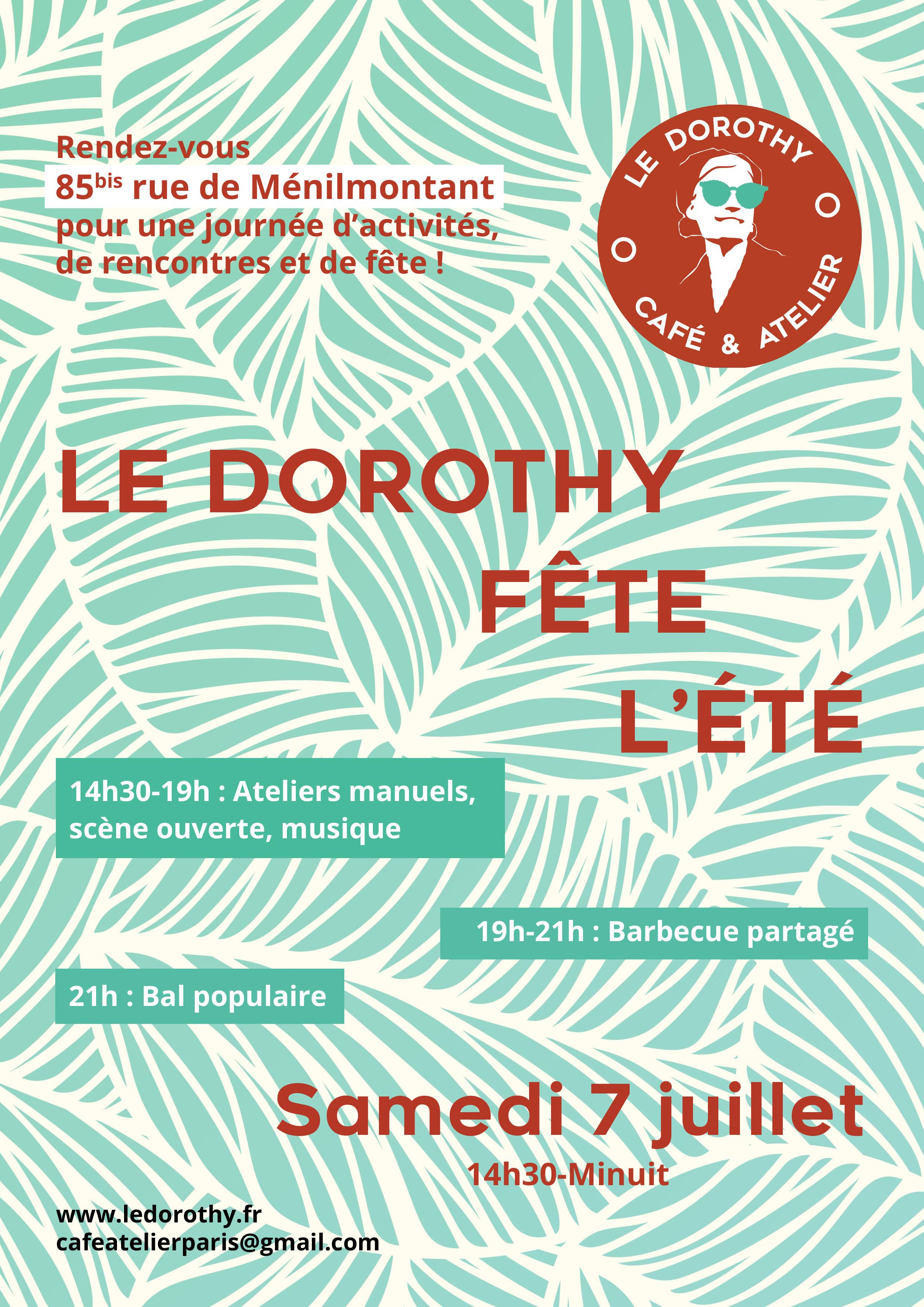 Flyer - Evenement au café Le Dorothy