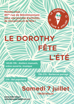 Flyer - Evenement au café Le Dorothy