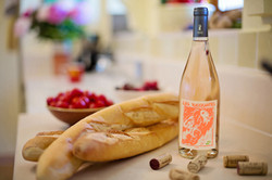 Projet d'étiquette de vin rosé