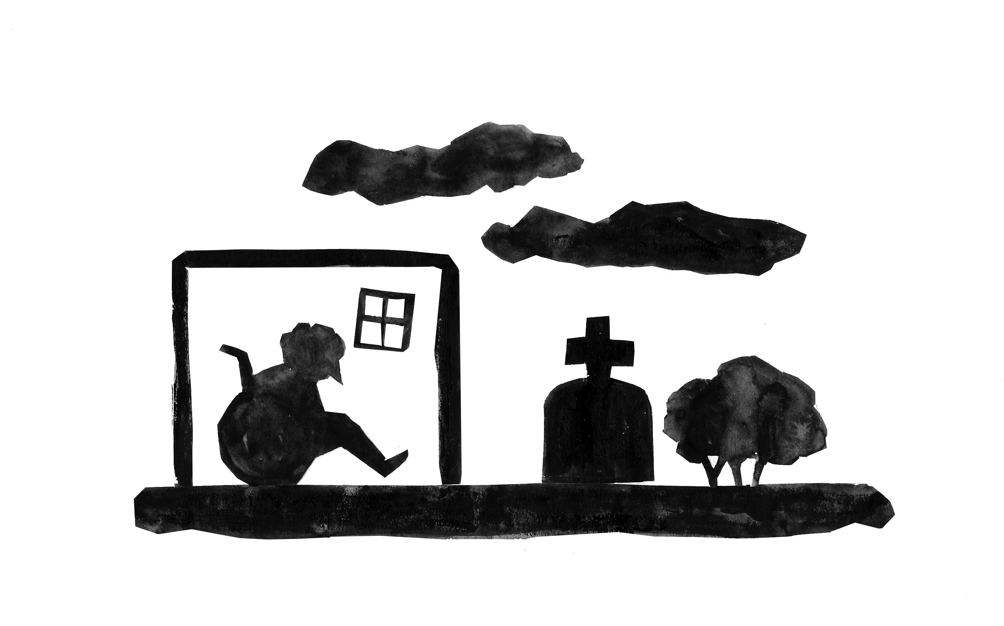 Illustration pour un article sur le confinement et les ehpad
