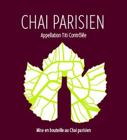 Etiquette de vin (d'après le logo du bar