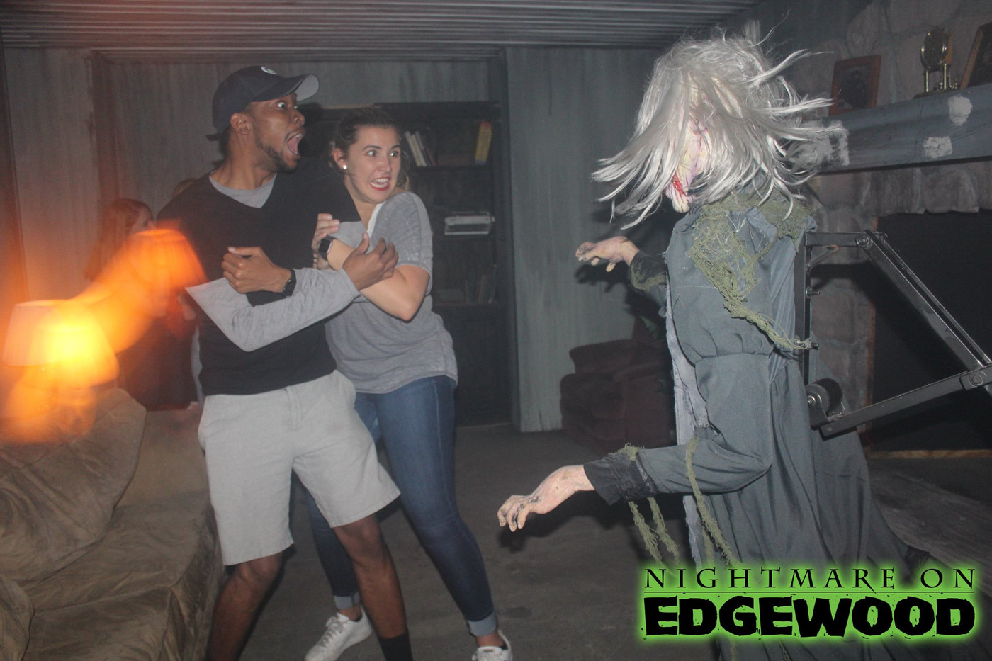 Nightmare on Edgewood Haunted House Reaction Photos