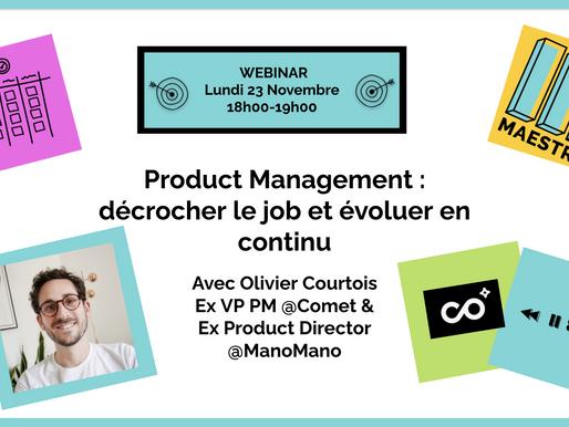 Devenir Product Manager et évoluer en continu