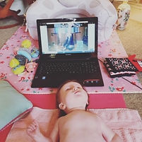 Online baby massage class