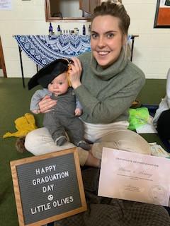 Baby massage graduation