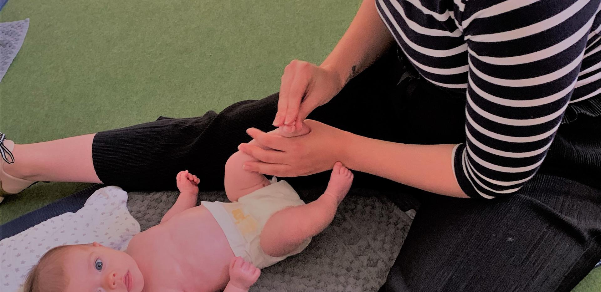 Little cutie loves her massage