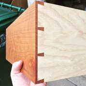 Midcentury Modern Side Table (Dovetail detail)