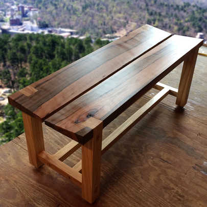 Tapered-Seat Bench