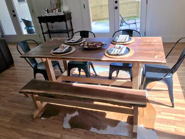 Classy Farmhouse Slab Table