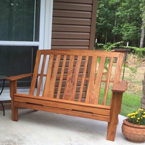 Greene & Greene-Style Adirondack Bench