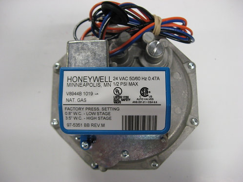 """V8944B1019 Honeywell 1"""" 24V 2Stg. Gas Valve"""