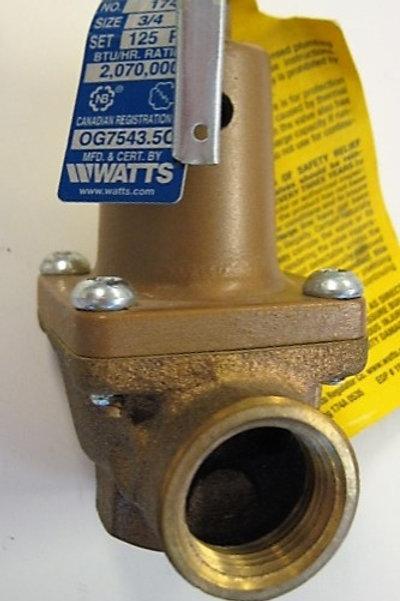 500038  125 PSI Pressure Relief Valve