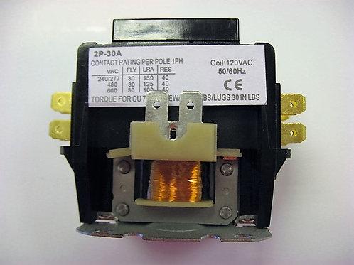 2P-30A-120V 2 Pole 120V 30 Amp Magnetic Contactor