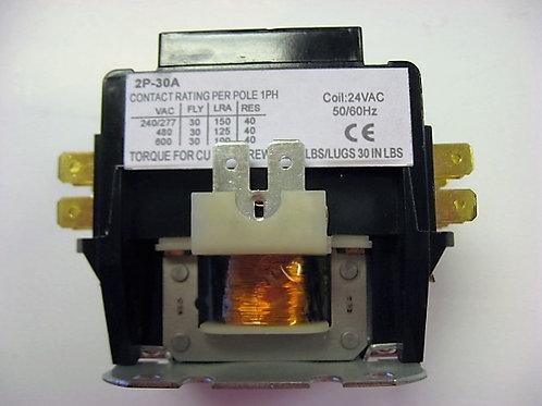 2P-30A-24V 2 Pole 24V 30 Amp Magnetic Contactor