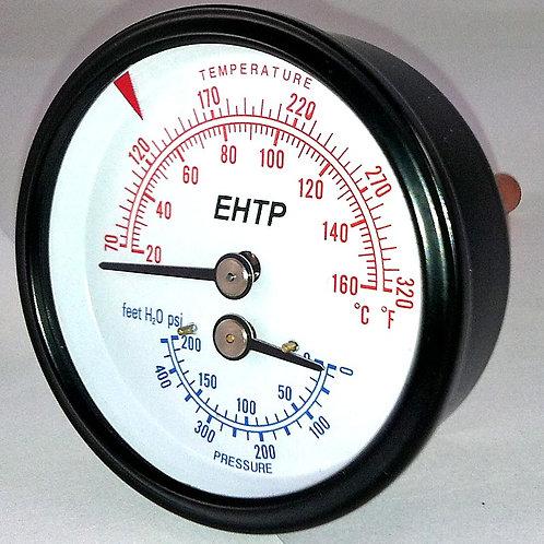 "EHTP214 Etna 1/4"" 0-200 PSI Tridicator"