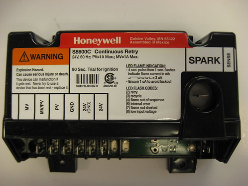 S8600C Honeywell Ignition Control IID Natural Gas