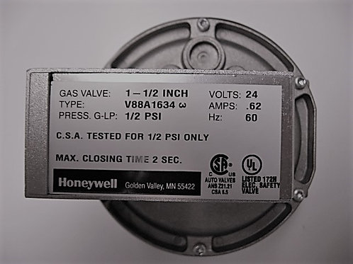 "004095F Raypak/Honeywell 1 1/2"" 24V Diaphragm Gas Valve On-Off"