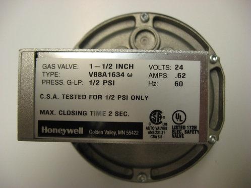 "V88A1634 Honeywell 1 1/2"" 24V Diaphragm Gas Valve On-Off"