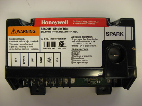 S8600H Honeywell Ignition Control / Single Trial for Ignition
