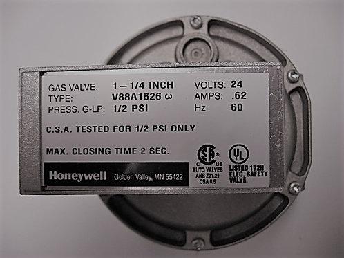 "V0046700 Laars/Honeywell 1 1/4"" 24V Diaphragm Gas Valve On-Off"